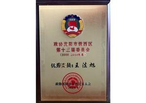 政协长春市铁西区第十三届常委会 了不起委员:王法旭
